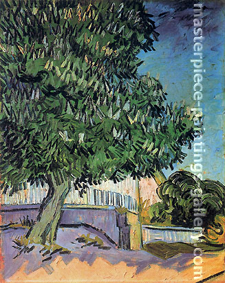 Vincent van Gogh, Chestnut Trees in Blossom-II, 1890, oil on canvas, 22.8 x 27.6 in. / 58 x 70 cm, US$290