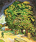 Vincent van Gogh, Chestnut Tree in Blossom, 1890, oil on canvas, 24.8 x 19.9 in. /  63 x 50.5 cm, US$275