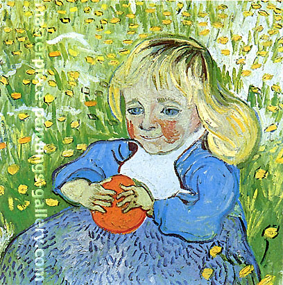 Vincent van Gogh, Child with Orange, 1890, oil on canvas, 19.7 x 20.1 in. / 50 x 51 cm, US$330