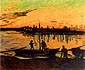 Vincent van Gogh, Coal Barges (JH 1571), 1888, oil on canvas, 21.1 x 25.2 in. / 53.5 x 64 cm, US$275