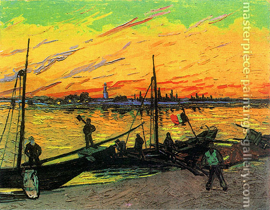 Vincent van Gogh, Coal Barges, 1888, (JH 1570) oil on canvas, 28 x 37.4 in. / 71 x 95 cm, US$299