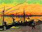 Vincent van Gogh, Coal Barges, 1888, oil on canvas, 28 x 37.4 in. / 71 x 95 cm, US$299