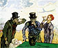 Vincent van Gogh, The Drinkers (after Daumier), 1890, oil on canvas, 23.4 x 28.9 in. / 59.4 x 73.4 cm, US$300