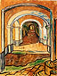 Vincent van Gogh, The Entrance Hall of Saint-Paul Hospital, 1889, oil on canvas, 24 x 18.7 in. / 61 x 47.5 cm, US$270