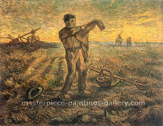 Vincent van Gogh, Evening: The End of the Day (after Millet), 1889, oil on canvas, 28.3 x 37 in. / 72 x 94 cm, US$375