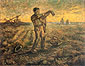 Vincent van Gogh, Evening: The End of the Day (after Millet), 1889, oil on canvas, 28.3 x 37 in. / 72 x 94 cm, US$270