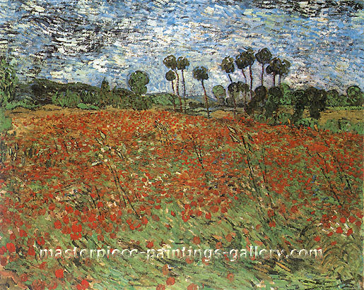 Vincent van Gogh, Field with Poppies, 1890, oil on canvas, 28.7 x 36 in. / 73 x 91.5 cm, US$560