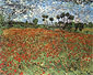 Vincent van Gogh, Field with Poppies, 1890, oil on canvas, 28.7 x 36 in. / 73 x 91.5 cm, US$320