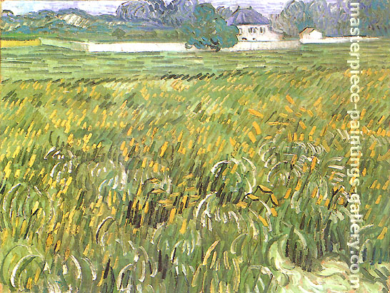 Vincent van Gogh, Wheat Field at Auvers with White House, 1890, oil on canvas, 19.1 x 24.9 in. / 48.6 x 63.2 cm, US$375