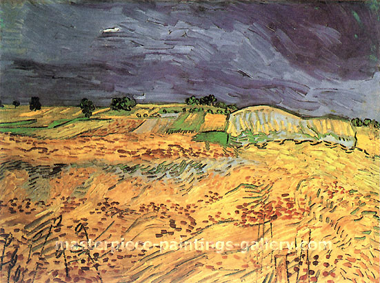 Vincent van Gogh, The Fields, 1890, oil on canvas, 19.7 x 25.6 in. /  50 x 65 cm, US$280