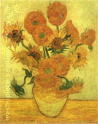 Fourteen Sunflowers in a Vase, 1889, oil on canvas, 40 x 30.4 in / 101.6 x 77.3 cm