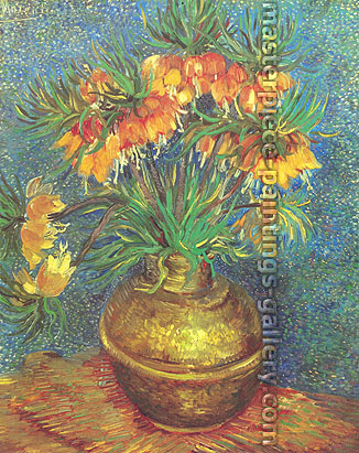 Vincent van Gogh, Imperial Crown Fritillaria in a Copper Vase (JH 1247) | Crown Imperials in a Copper Vase | Fritillaries in a Copper Vase, 1887, oil on canvas, 28.9 x 23.8 in. / 73.5 x 60.5 cm, US$315