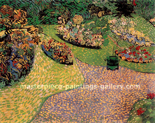 Vincent van Gogh, Garden in Auvers, 1890, oil on canvas, 25.2 x 31.5 in. / 64 x 80 cm, US$480