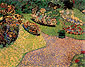 Vincent van Gogh, Garden in Auvers, 1890, oil on canvas, 25.2 x 31.5 in. / 64 x 80 cm, US$300