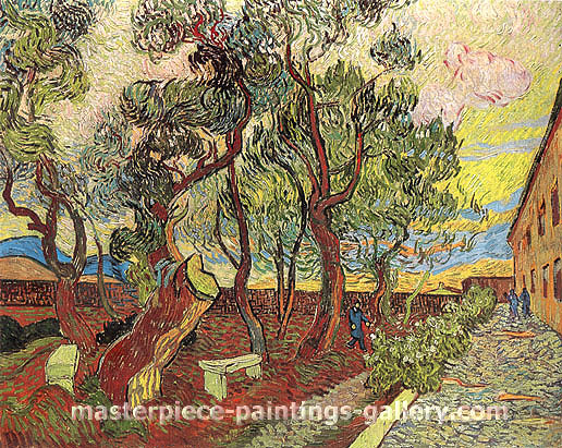 Vincent van Gogh, The Garden of Saint Paul Hospital | Amsterdam, 1889, oil on canvas, 28.8 x 36.5 in. / 73.1 x 92.6 cm, US$530