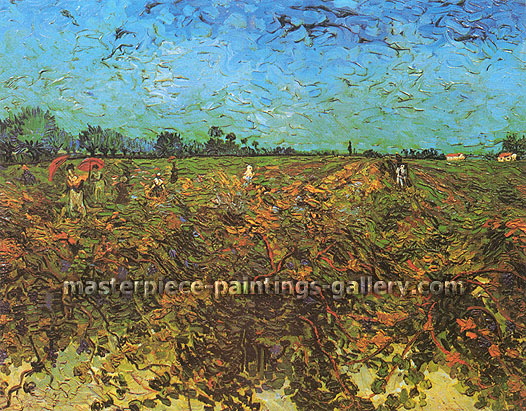 Vincent van Gogh, The Green Vineyard, 1888, oil on canvas, 28.3 x 36.2 in. / 72 x 92 cm, US$560
