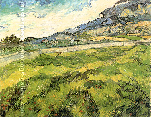 Vincent van Gogh, Green Wheat Field, 1889, oil on canvas, 28.7 x 36.2 in. / 73 x 92 cm, US$540