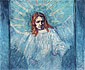 Vincent van Gogh, Half-Figure of an Angel (after Rembrandt), 1889, oil on canvas, 21.3 x 25.2 in. / 54 x 64 cm, US$270