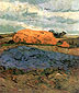 Vincent van Gogh, Haystacks under a Rainy Sky, 1890, oil on canvas, 25.2 x 20.7 in. / 64 x 52.5 cm, US$280