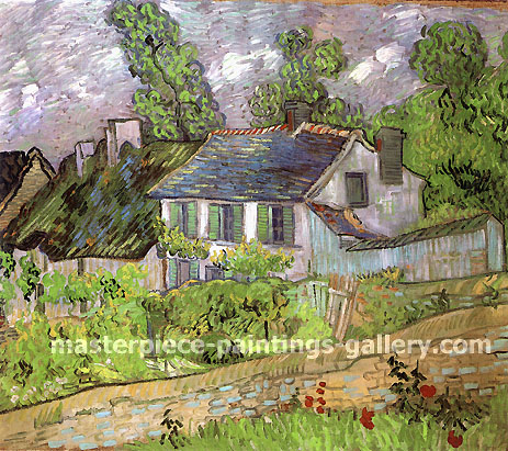 Vincent van Gogh, Houses in Auvers, 1890, oil on canvas, 23.9 x 28.7 in. / 60.6 x 73 cm, US$420