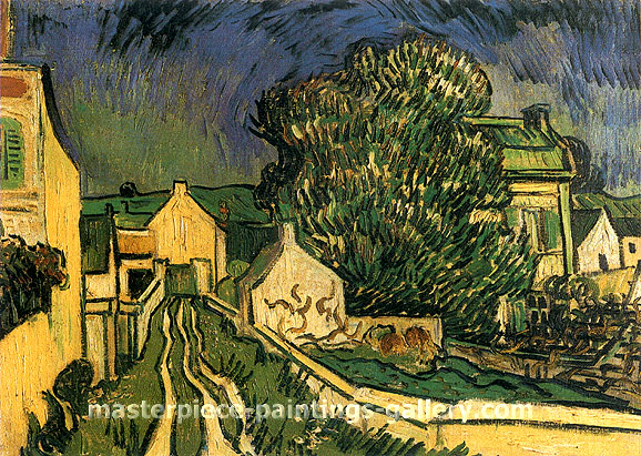 Vincent van Gogh, The House of Pere Pilon, 1890, oil on canvas,19.3 x 27.6 in. / 49 x 70 cm, US$420