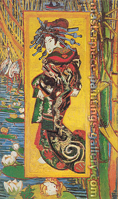 Vincent van Gogh, Japonaiserie: Oiran (after Kesai Eisen) [JH 1298], 1887, oil on canvas, 41.3 x 23.9 in. / 105 x 60.6 cm, US$650