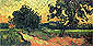 Vincent van Gogh, Landscape with the Chateau of Auvers at sunset, 1890, oil on canvas, 19.7 x 39.8 in. / 50 x 101 cm, US$350