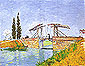 The Langlois Bridge at Arles | Drawbridge with Lady with Parasol, 1888, oil on canvas, 19.5 x 25.2 in / 49.5 x 64 cm, US$250