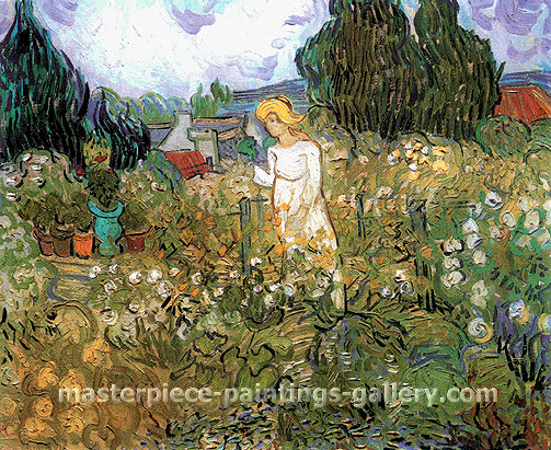 Vincent van Gogh, Marguerite Gachet in the Garden, 1890, oil on canvas, 18.1 x 21.7 in. / 46 x 55 cm, US$350