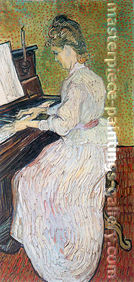 Vincent van Gogh, Marguerite Gachet at the Piano, 1890, oil on canvas, 40.4 x 19.7 in. / 102.6 x 50 cm, US$600