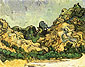 Vincent van Gogh, Mountains at Saint-Remy with Dark Cottage, 1889, oil on canvas, 28.3 x 35.7 in. / 71.8 x 90.8 cm, US$260