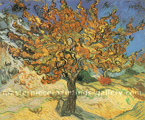 Vincent van Gogh, The Mulberry Tree, 1889, (JH 1796) oil on canvas, 21.2 x 25.6 in. / 54 x 65 cm, US$400