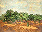 Vincent van Gogh, Olive Grove: Pale Blue Sky, 1889, oil on canvas, 28.6 x 36.3 in. / 72.7 x 92.1 cm, US$260