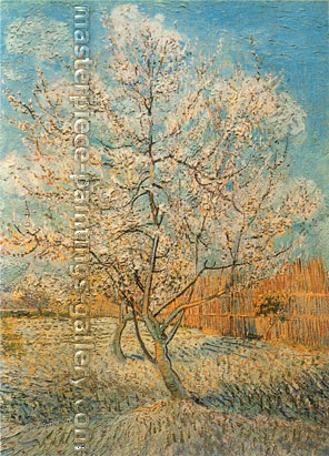 Vincent van Gogh, Peach Tree in Blossom, 1888, oil on canvas, 31.7 x 23.4 in. / 80.5 x 59.5 cm, US$550