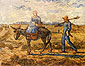 Vincent van Gogh, Morning: Peasant Couple Going to Work (after Millet), 1890, oil on canvas, 28.7 x 36.2 in. / 73 x 92 cm, US$260