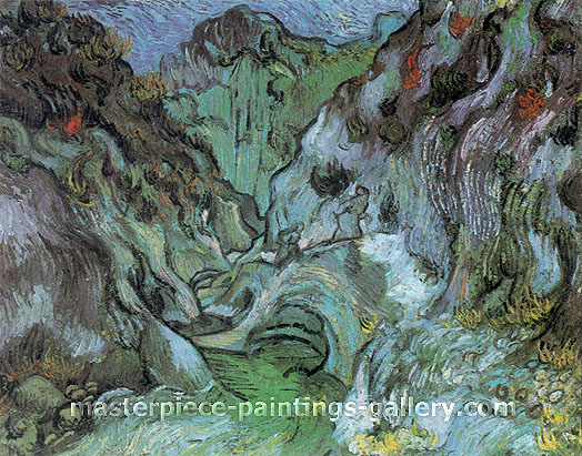 Vincent van Gogh, Les Peiroulets Ravine 2, 1889, oil on canvas, 28.7 x 36.2 in. / 73 x 92 cm, US$560