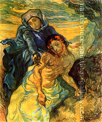 Vincent van Gogh, Pieta (after Delacroix), 1889, oil on canvas, 28.7 x 23.8 in. / 73 x 60.5 cm, US$420