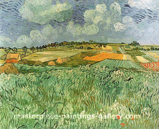 Vincent van Gogh,Plain near Auvers, 1890, oil on canvas, 28.8 x 36.2 in. / 73.3 x 92 cm, US$560