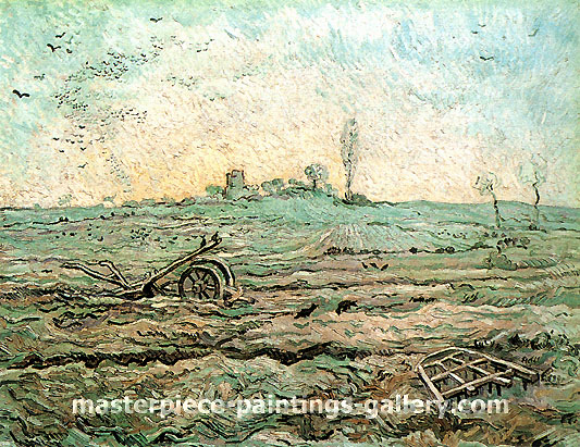 Vincent van Gogh, The Plough and the Harrow (after Millet), 1890, oil on canvas,  28.3 x 36.2 in. / 72 x 92 cm, US$560