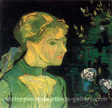 Vincent van Gogh, Portrait of Adeline Ravoux, 1890, oil on canvas, 20.5 x 20.5 in. / 52 x 52 cm, US$300