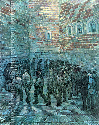 Vincent van Gogh, Prisoners Exercising | after Dore, 1890, oil on canvas, 31.5 x 25.2 in. / 80 x 64 cm, US$450