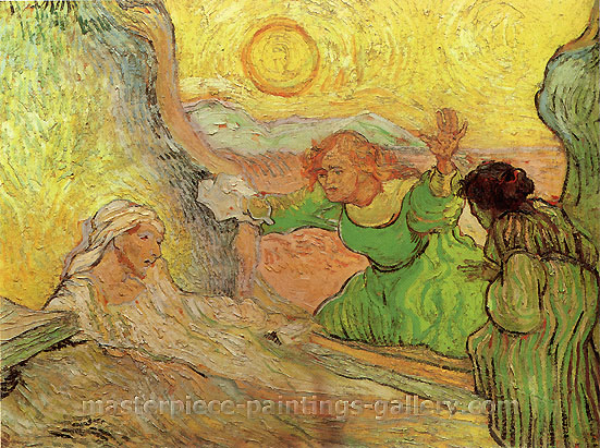 Vincent van Gogh, The Raising of Lazarus | after Rembrandt, 1890, oil on canvas, 50 x 65 cm, US$270