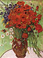 Vincent van Gogh, Still life: Red Poppies and Daisies, 1890, oil on canvas, 25.6 x 19.7 in. / 65 x 50 cm, US$270