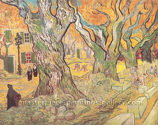 Vincent van Gogh, The Road Menders, 1889, (JH 1861), oil on canvas, 28 x 36.6 in. / 71 x 93 cm, US$530