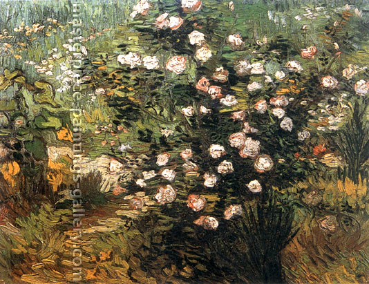 Vincent van Gogh, Rosebush in Blossom, 1889, oil on canvas, 13 x 16.5 in. / 33 x 42 cm, US$275