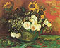 Vincent van Gogh, Bowl with Sunflowers, Roses & Other Flowers (JH 1166), 1886, oil on canvas, 19.7 x 24 in. / 50 x 61 cm, US$270