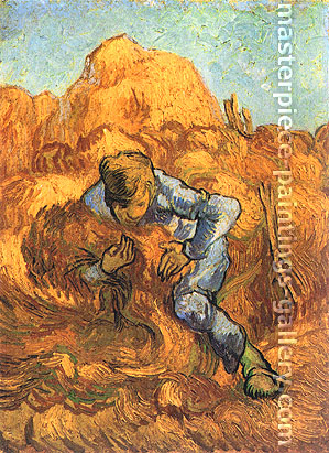 Vincent van Gogh, The Sheaf-Binder (after Millet), 1889, oil on canvas, 11.5 x 12.6 in. / 44.5 x 32 cm, US$275
