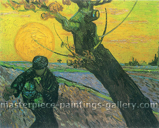 Vincent van Gogh, The Sower, 1888, (JH 1629) oil on canvas, 19.7 x 24.6 in. / 50 x 62.5 cm, US$400