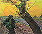 Vincent van Gogh, The Sower (small), 1888, oil on canvas, 19.7 x 24.6 in. / 50 x 62.5 cm, US$280