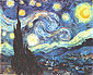 Starlit Night (Cypresses and Village / Starry Night), 1889, 28.8 x 36 in / 73.2 x 91.4 cm, US$270